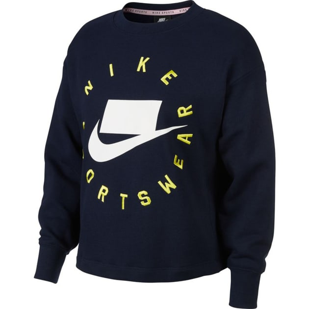 Nike W NSW NSP Crew Fleece FT BF Dunkelblau