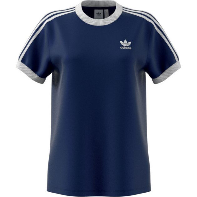 adidas Originals 3 STRIPES TEE Dunkelblau