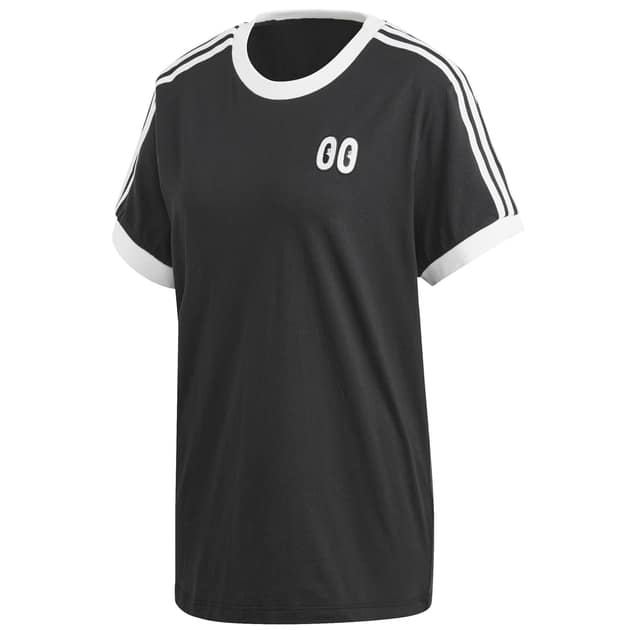 adidas Originals 3 STRIPES TEE Schwarz