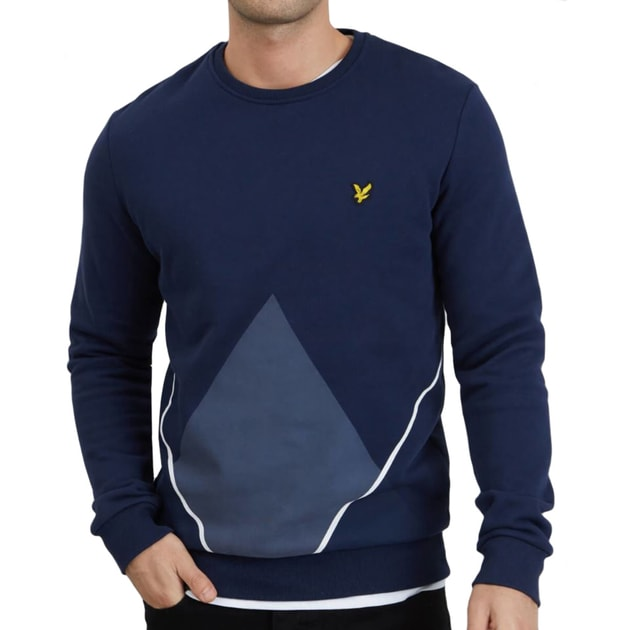 Lyle & Scott Abstract Argyle Sweatshirt Dunkelblau