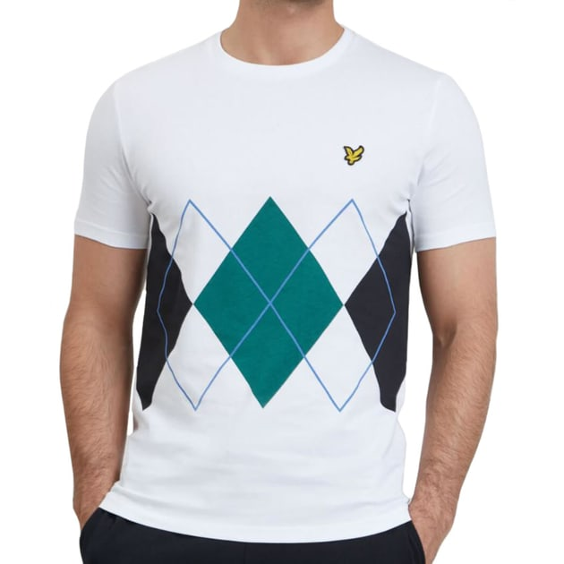 Lyle & Scott Argyle T-Shirt Weiß