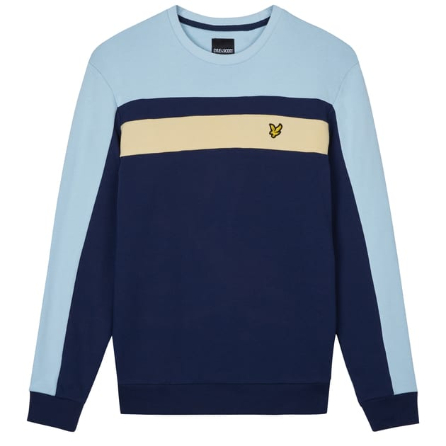 Lyle & Scott Color Block Sweatshirt Dunkelblau
