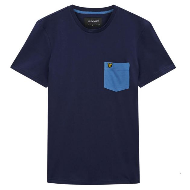 Lyle & Scott Contrast Pocket T-Shirt Neutral