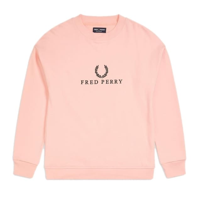 Fred Perry Embroidered Sweatshirt Rosa