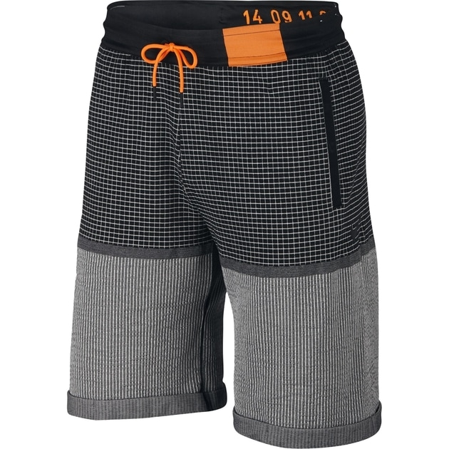 Nike M NSW Tech Pack SC Short Grid Knit Schwarz