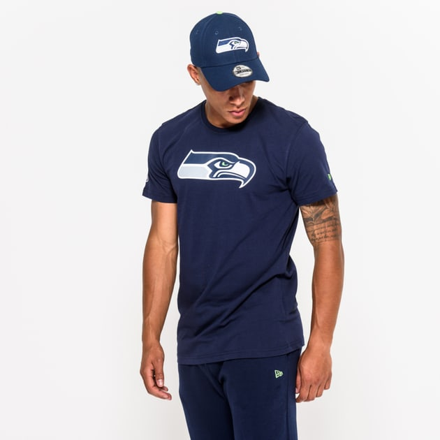 New Era Team Logo T-Shirt Seattle Seahawks Grau