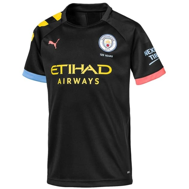Puma Manchester City Away Trikot Kids Schwarz