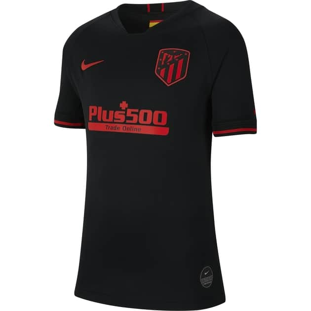 Nike Atletico Madrid Away Trikot Kids Schwarz