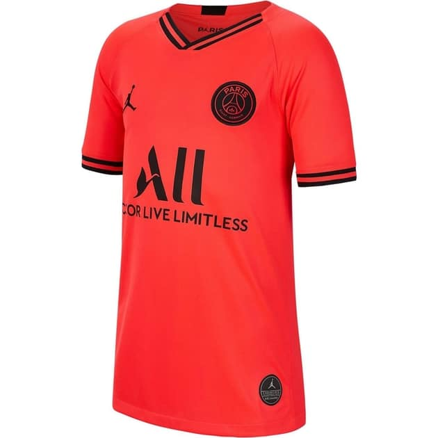 Nike Paris Saint Germain Away Trikot Kids Rot