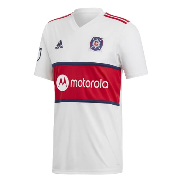 adidas Chicago Fire Away Trikot Weiß