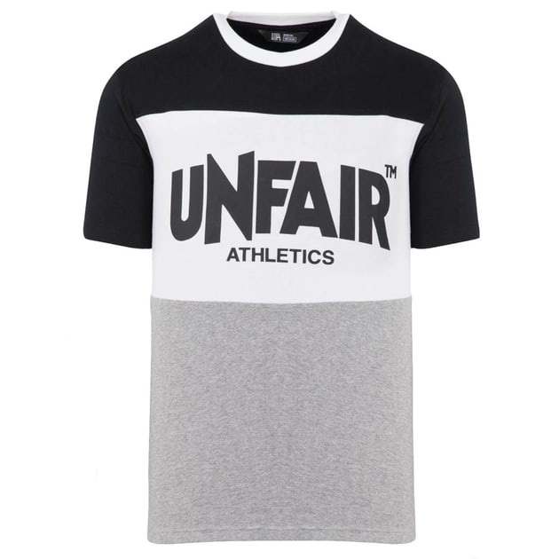 Unfair Athletics Classic Panel T-Shirt Schwarz