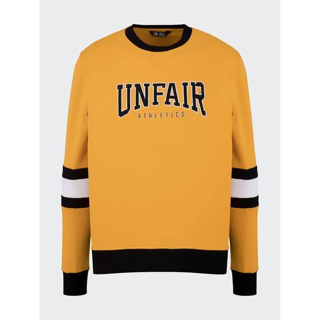 Unfair Athletics College Crewneck Gelb