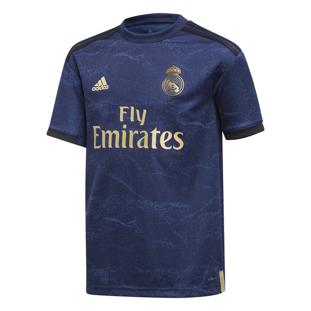 adidas Real Madrid Away Trikot Kids Dunkelblau