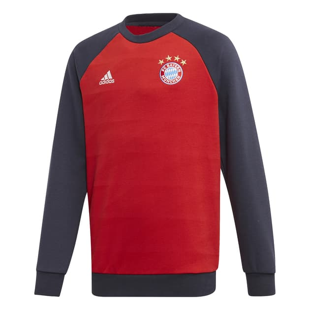 adidas FC Bayern CR Sweat Kids Rot
