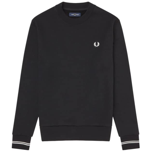Fred Perry Crewneck Sweatshirt Schwarz