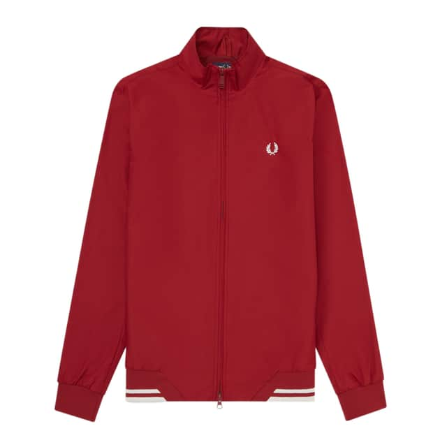 Fred Perry Twin Tipped Sports Jacket Dunkelrot