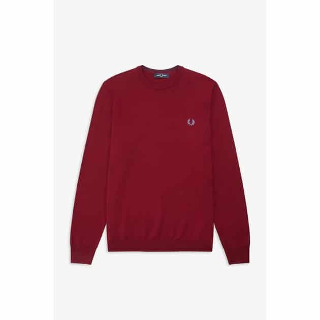 Fred Perry Classic Merino Jumper Dunkelrot
