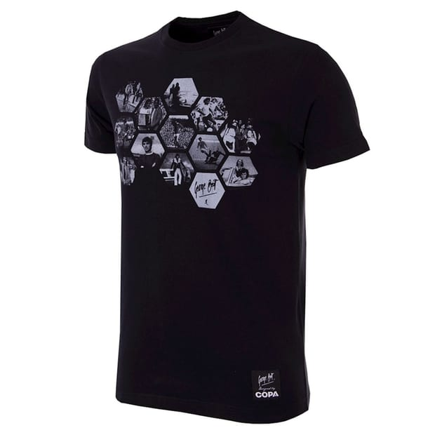 Copa George Best Best Hexagon T-Shirt Schwarz