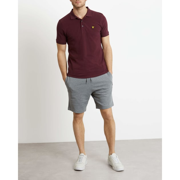 Lyle & Scott Plain Polo Shirt Dunkelrot