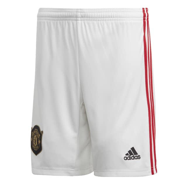 adidas Manchester united Home Short Kids Weiß