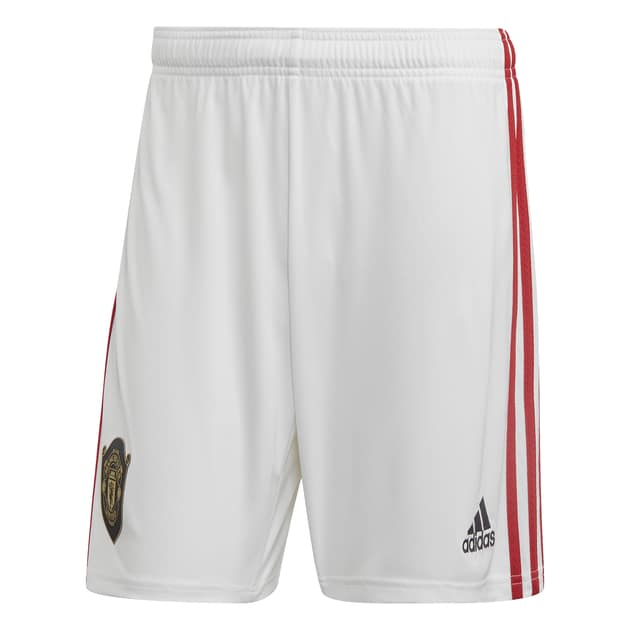 adidas Manchester United Home Short Weiß