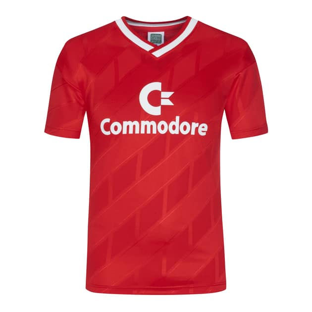 Score Draw Bayern Retro 1986 Trikot Commodore Rot