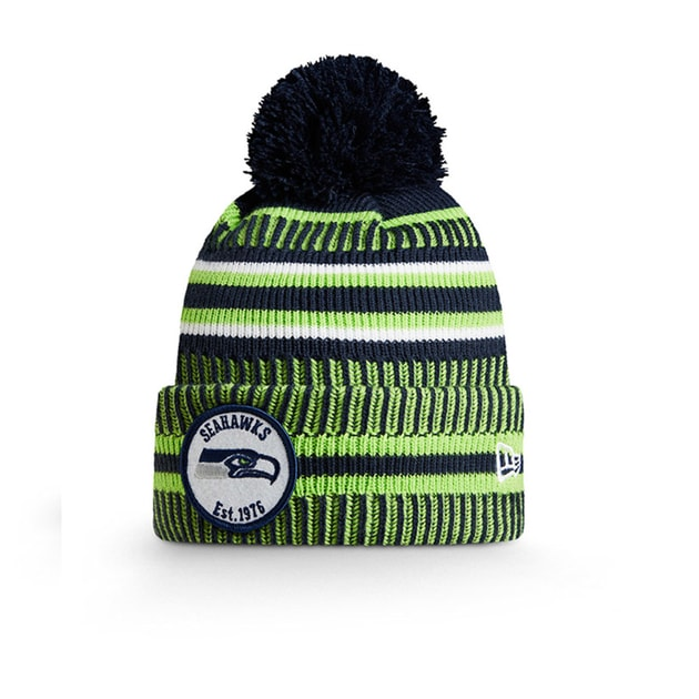 New Era Onfield Home Sport Knit Seattle Seahawks Mütze Bunt