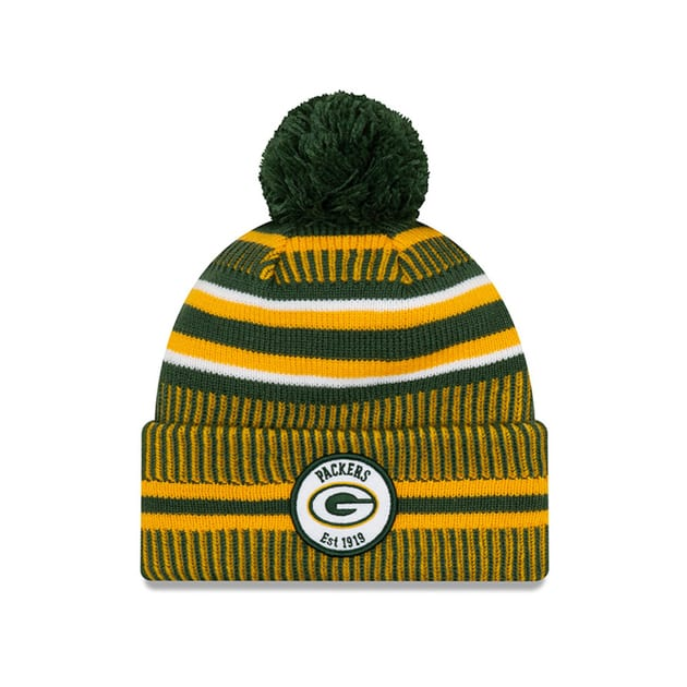 New Era Onfield Home Sport Knit Geen Bay Packers Mütze - Mützen (Bunt)