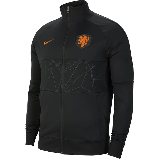 Nike Netherlands Men's Soccer Jacket Schwarz