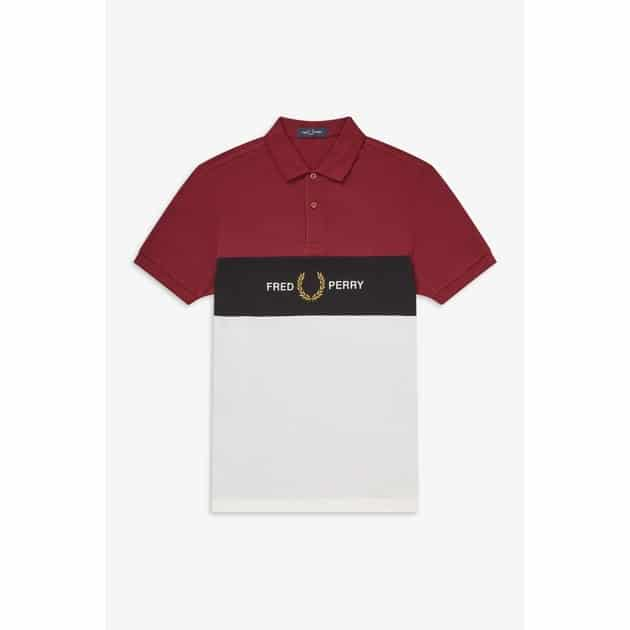 Fred Perry Embroidered Panel Polo Shirt bei Sport Münzinger München