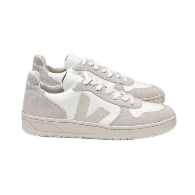 Veja V10 BMESH WHITE NATURAL Weiß