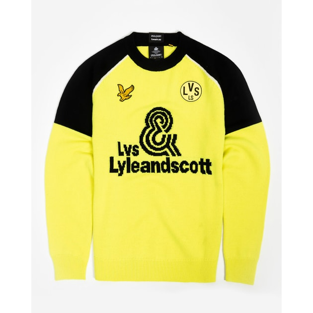 Lyle & Scott Neon Knitted Jumper Gelb